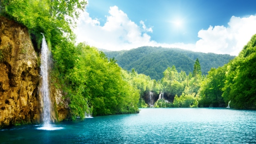 nature_waterfall_summer_lake_trees_90400_3840x2160